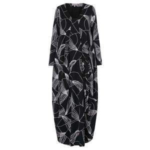 Sahara Abstract Line Jersey Dress