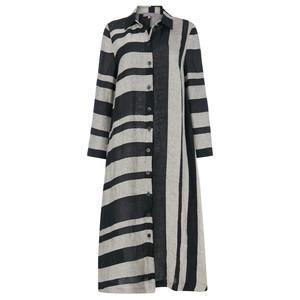 Sahara Linen Stripe Shirt Dress