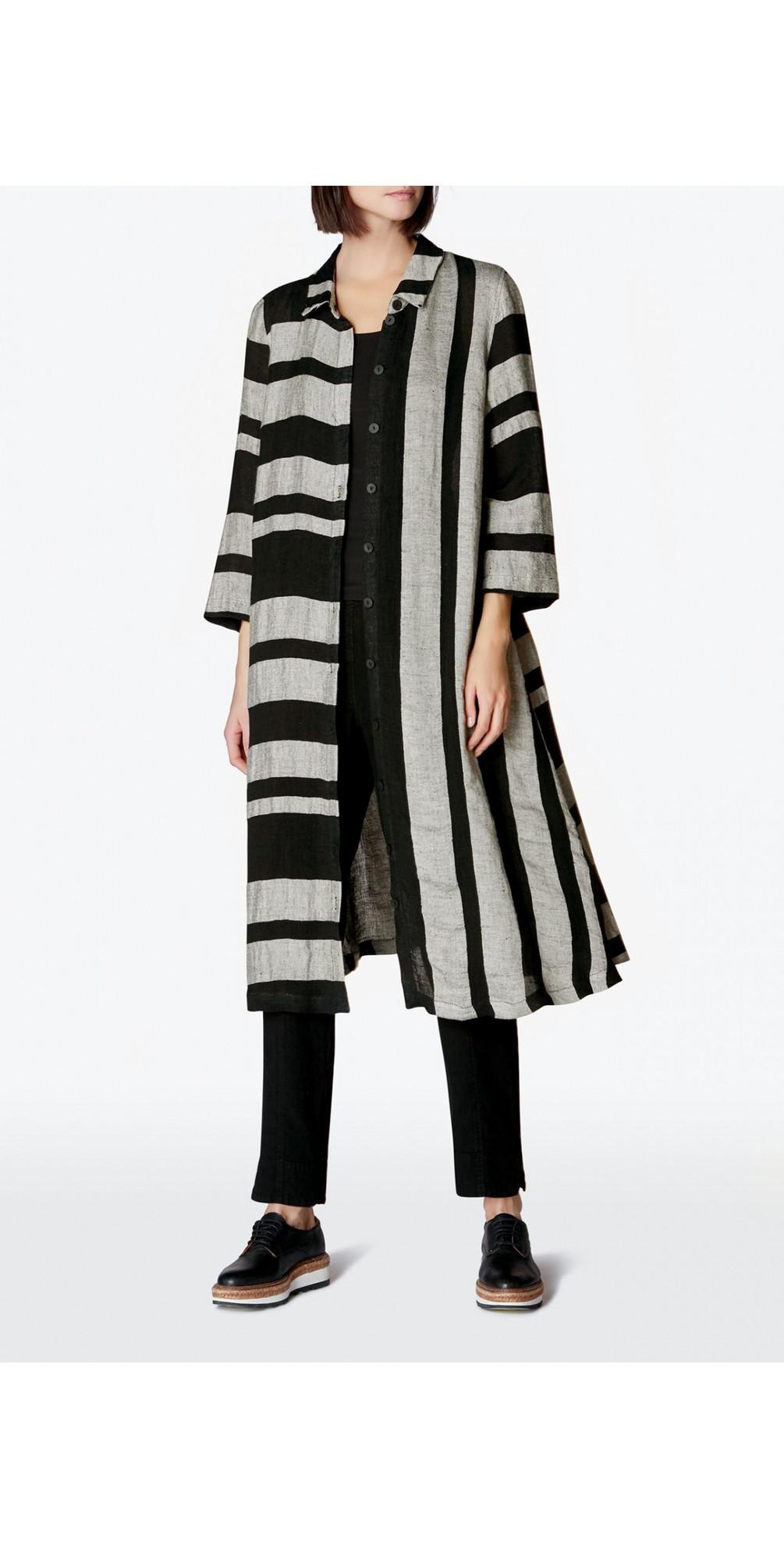 Linen Stripe Shirt Dress main image