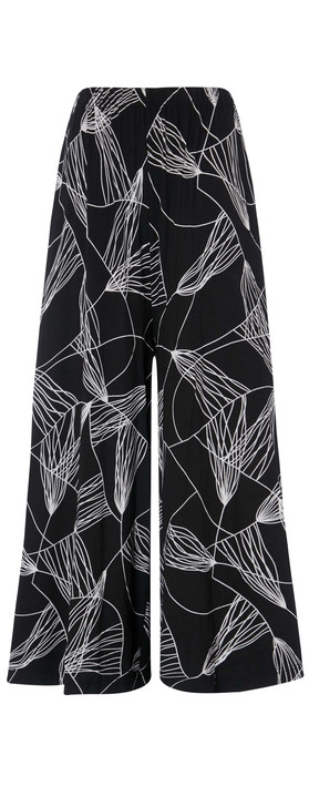 Sahara Abstract Line Jersey Trouser Black/White