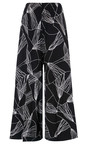 Sahara Black/White Abstract Line Jersey Trouser