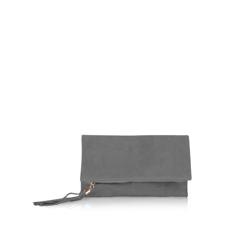 Gemini Label  Silvi Clutch Bag - Grey