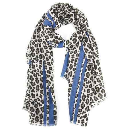 Gemini Label  Leni Leopard Scarf - Blue
