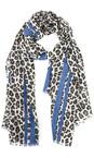 Butterfly Hudie Blue Leni Leopard Scarf