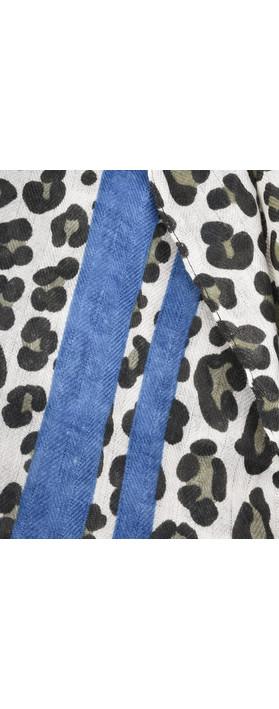Butterfly Hudie Leni Leopard Scarf Blue