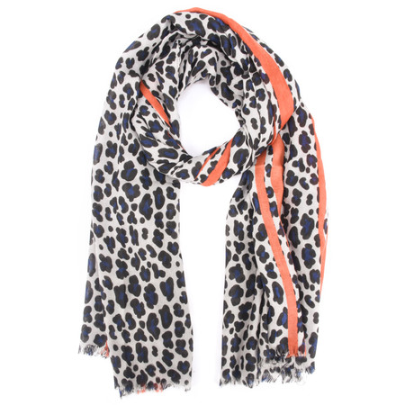 Gemini Label  Leni Leopard Scarf - Orange