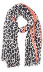 Gemini Label  Orange Leni Leopard Scarf