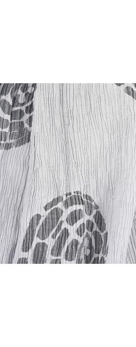 Grizas Urte Printed Crinkle Scarf Grey
