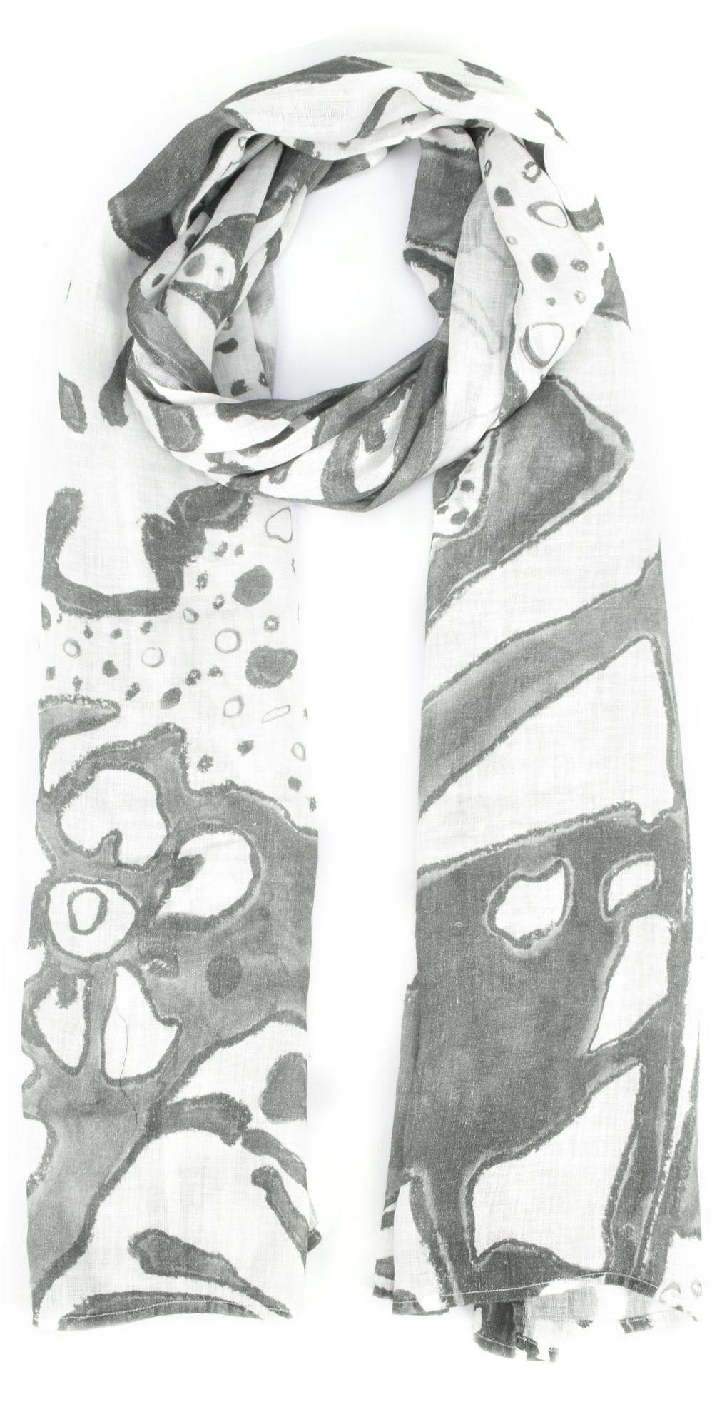 Leva Printed Linen Scarf main image
