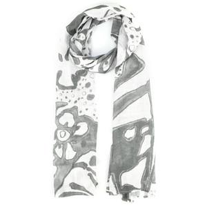 Grizas Leva Printed Linen Scarf