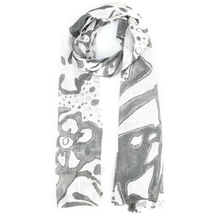 Grizas Leva Printed Linen Scarf - Blue