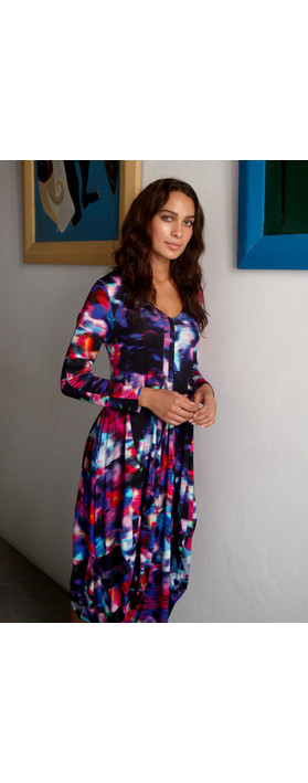 Sahara Mali Print Jersey Dress Multi