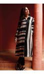 Sahara Black/Stone Linen Stripe Shirt Dress