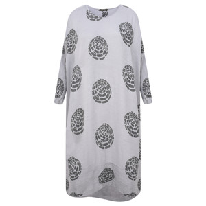 Grizas Domi Printed Crinkle Long Tunic