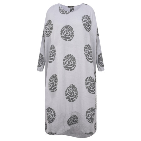 Grizas Domi Printed Crinkle Long Tunic - Blue