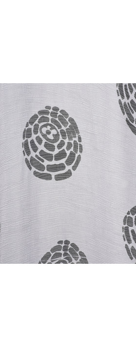 Grizas Domi Printed Crinkle Long Tunic Grey