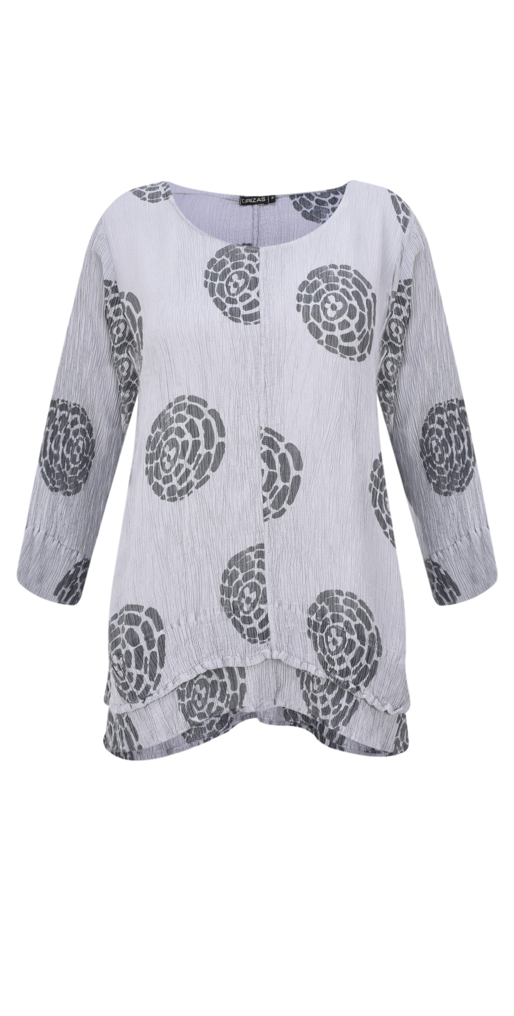 Layla Printed Crinkle Layered Top main image
