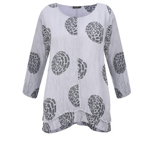 Grizas Layla Printed Crinkle Layered Top