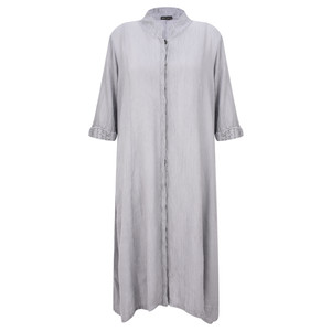 Grizas Egle Plain Crinkle Shirt Dress