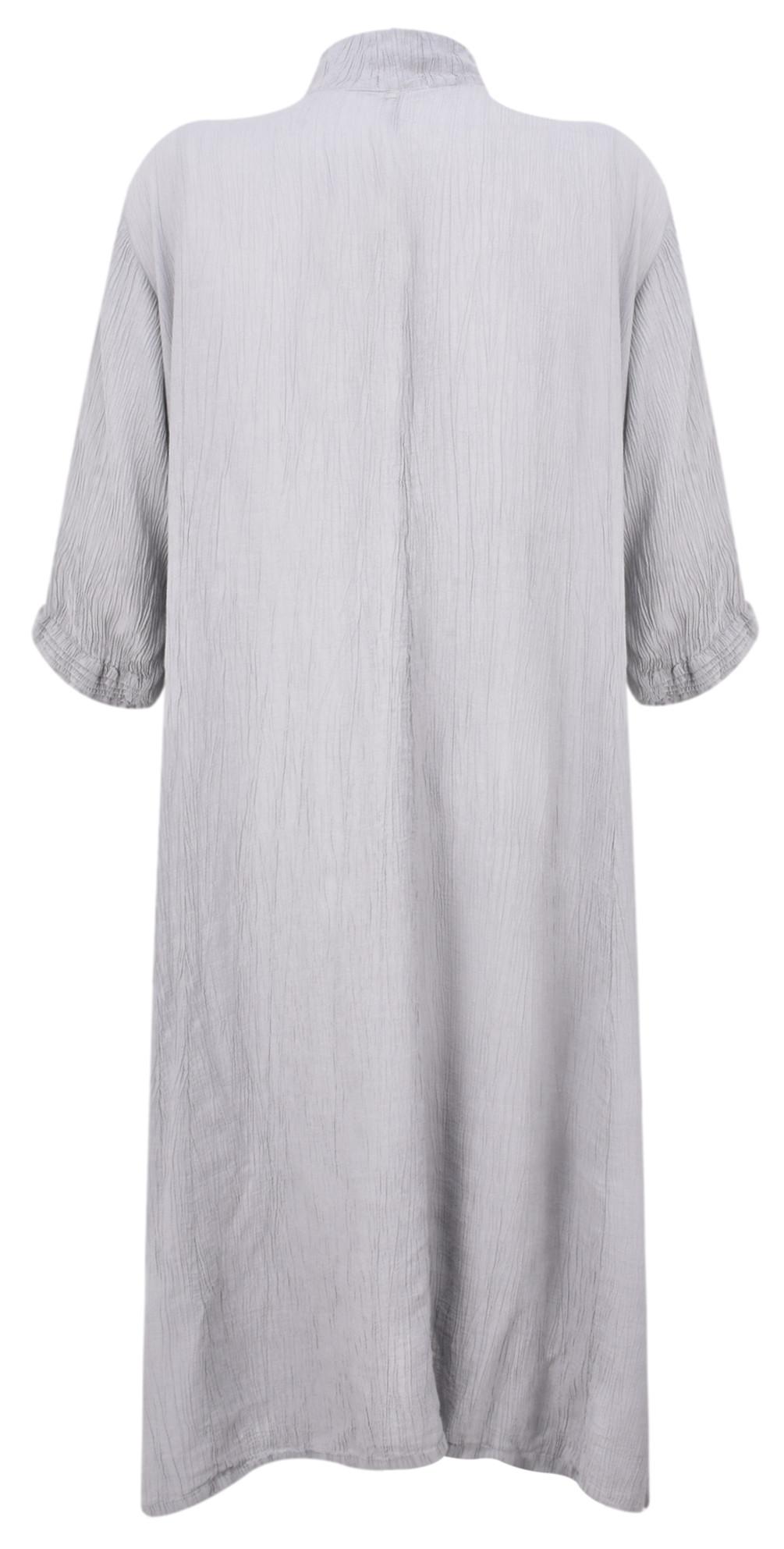 Egle Plain Crinkle Shirt Dress main image