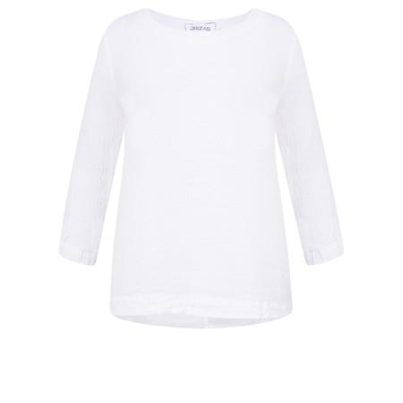 Grizas Lika Plain Crinkle Top - White