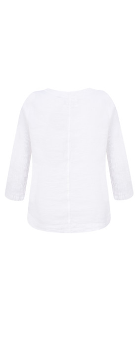 Grizas Lika Plain Crinkle Top White