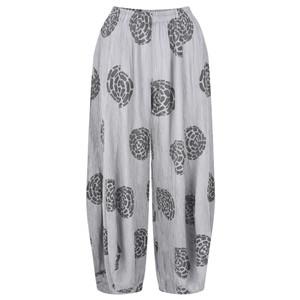 Grizas Vilma Printed Crinkle Cuffed Trouser