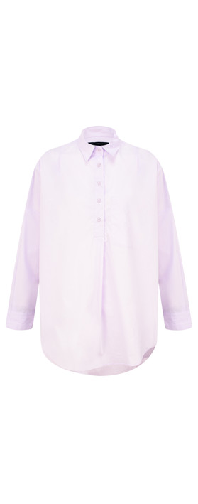 French Connection Laselle Poplin Shirt Lavender Frost