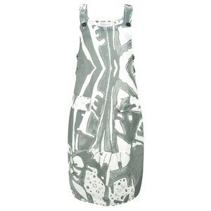 Grizas Greta Printed Linen Dungaree Dress