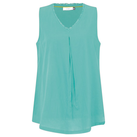 Adini Cotton Voile Jena Top - Green