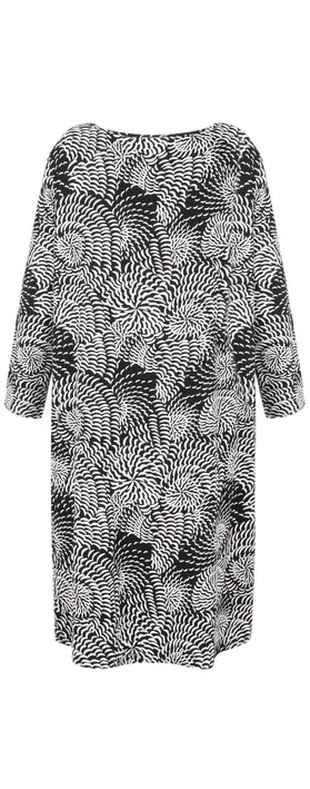 Masai Clothing Gerry Abstract Floral Tunic Black