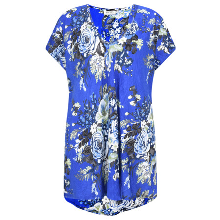 Masai Clothing Floral Kaza Top - Blue