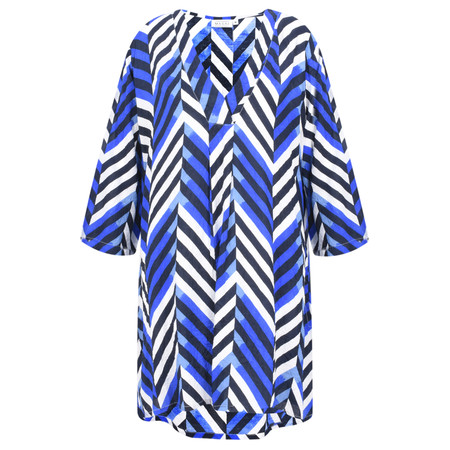 Masai Clothing Chevron Print Gelsa Tunic - Blue