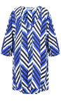 Masai Clothing Greek Blue Org Chevron Print Gelsa Tunic