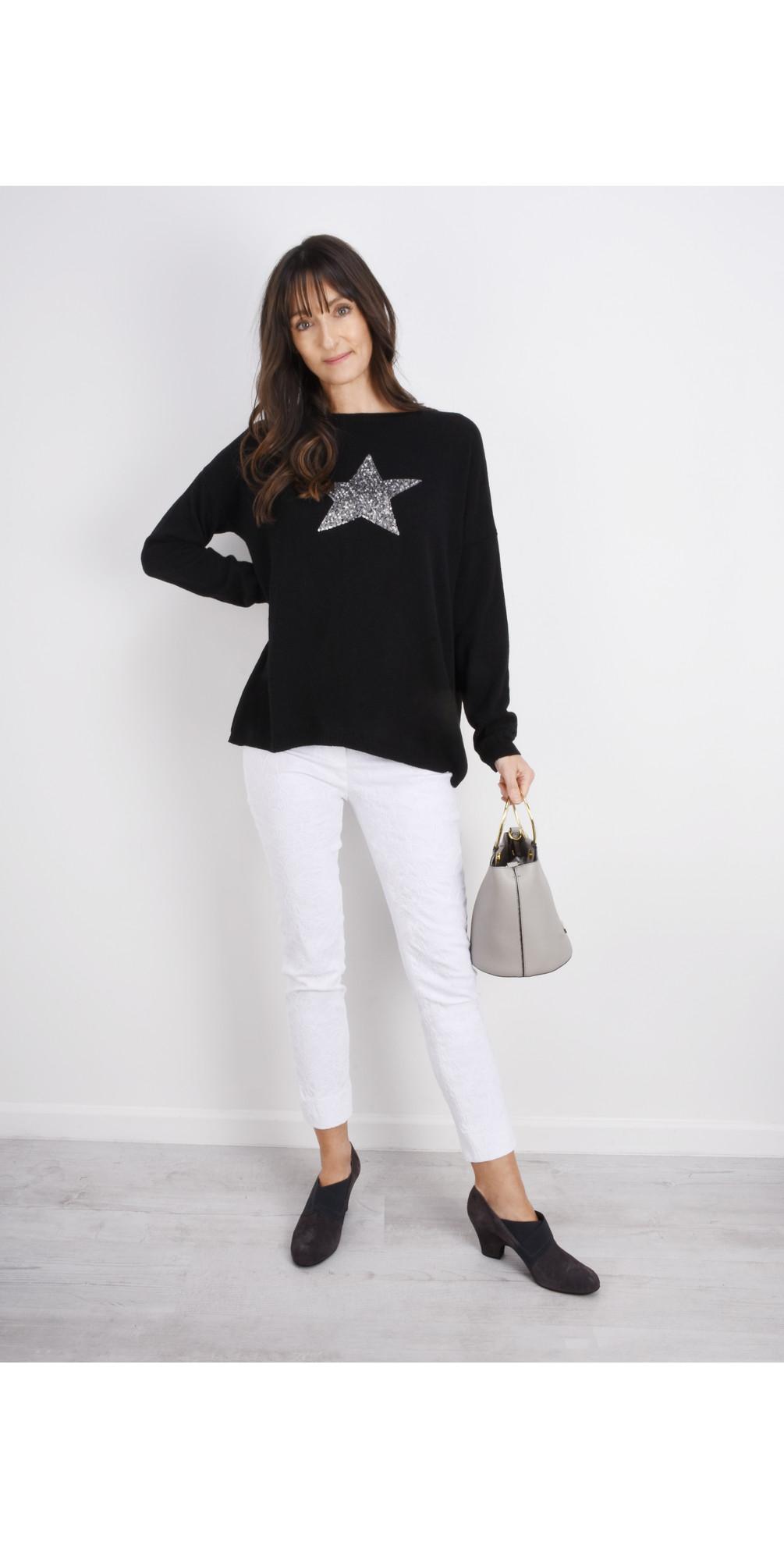Sequin Star Cashmere Blend Jumper main image