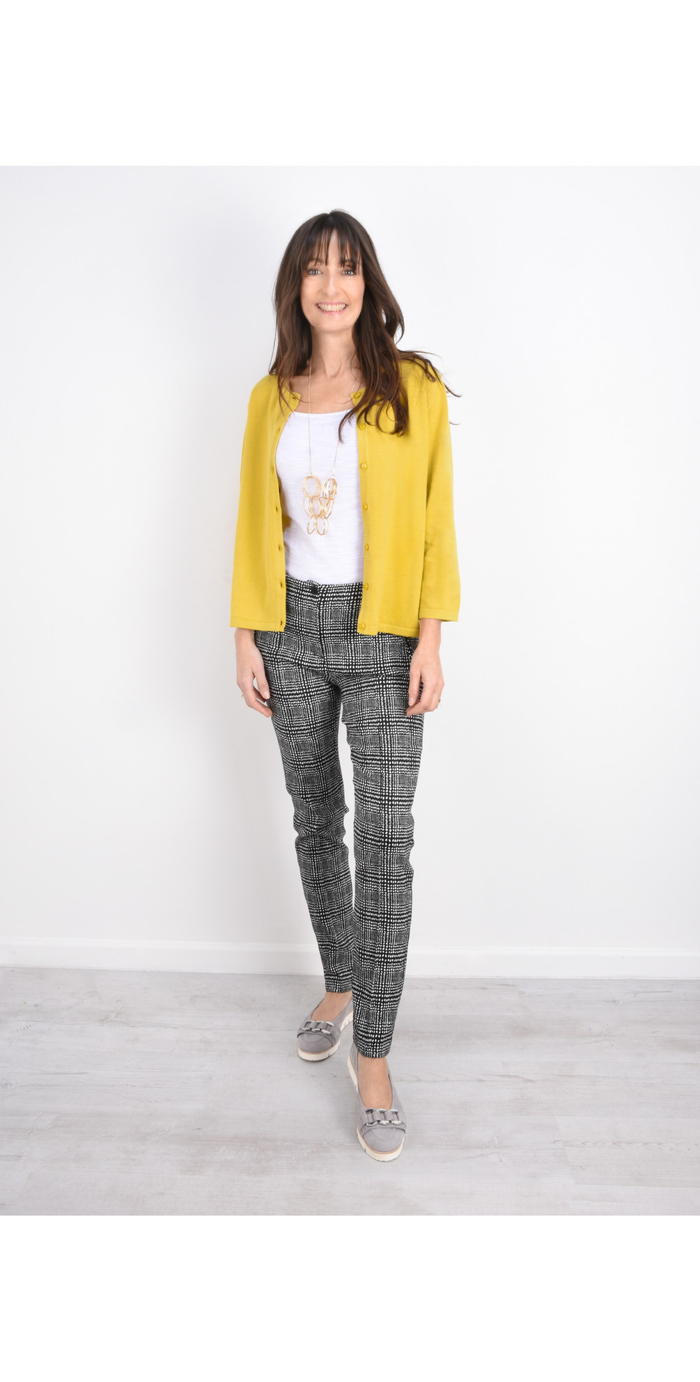Holly Smart Check Full Length Trouser main image