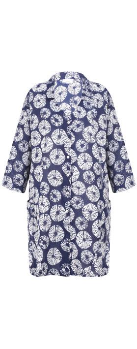 Adini Samoa Print Ocean Tunic Blue