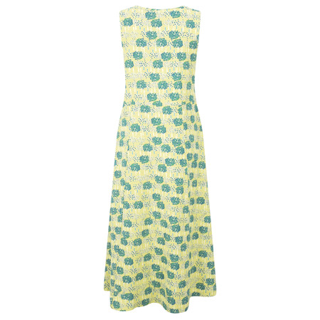 Adini Double Tree Print Double Tree Dress - Yellow