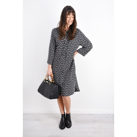 Sandwich Clothing Dash Print Shirt Dress - Black