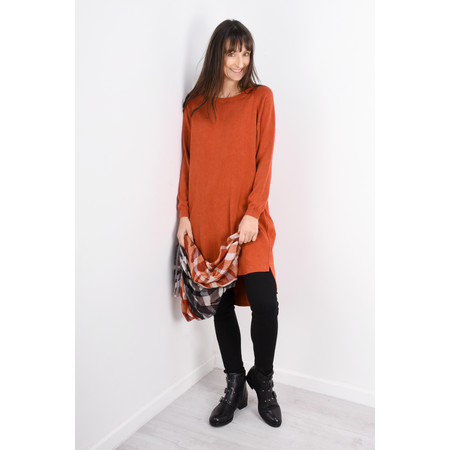 Sandwich Clothing Dipped Hem Cotton Jumper - Red