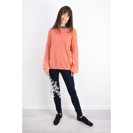 Sandwich Clothing Batwing Rib Knit Jumper - Orange