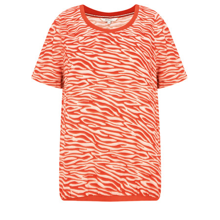 Sandwich Clothing Zebra Dobby Blouse - Red