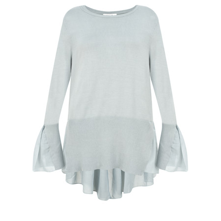 Sandwich Clothing Frill Detail Thin Knit Jumper - Blue