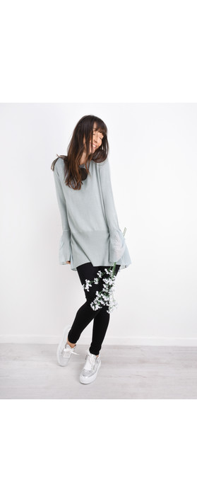 Sandwich Clothing Frill Detail Thin Knit Jumper Pale Sky