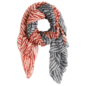 Sandwich Clothing Woven Zebra Print Contrast Scarf