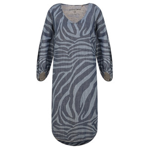 Sandwich Clothing Denim Wash Zebra Dress