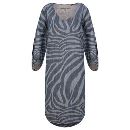 Sandwich Outlet  Denim Wash Zebra Dress - Blue