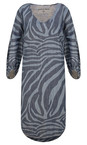 Sandwich Clothing Blue Denim Denim Wash Zebra Dress