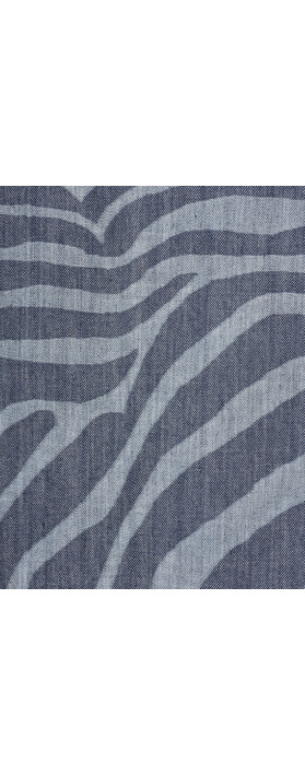 Sandwich Clothing Denim Wash Zebra Dress Blue Denim