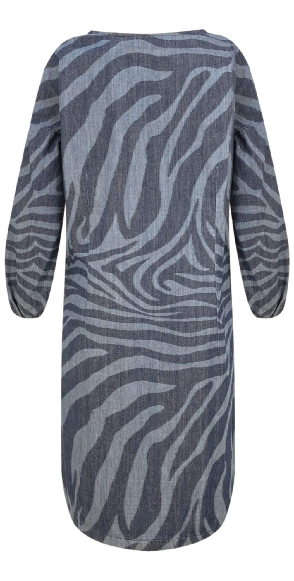 Denim Wash Zebra Dress main image